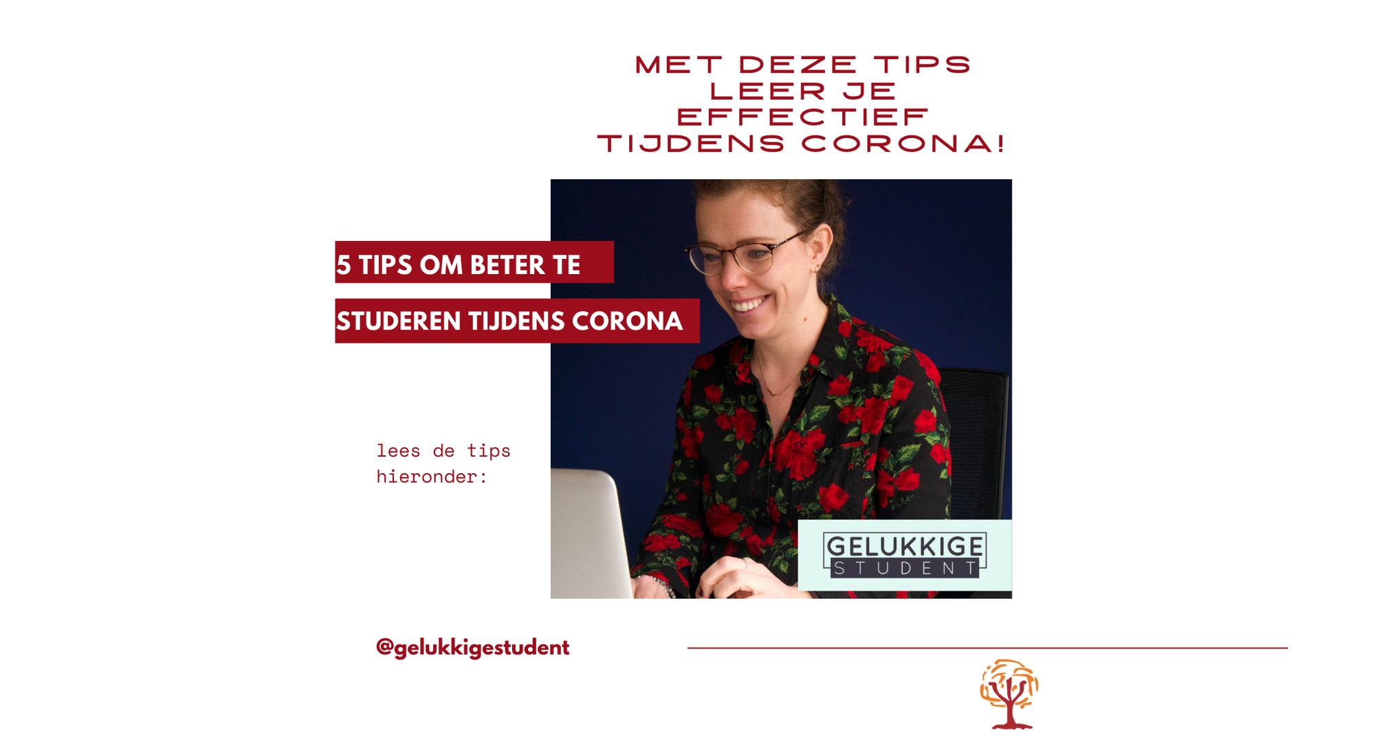 5 tips om beter te studeren tijdens corona